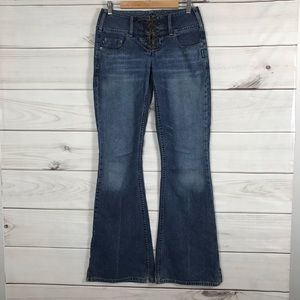 Silver Jeans 29 Blue Jeans Flare Tall 35 inseam